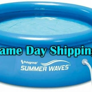 Summer Waves 8ft x 25ft Above Ground Inflatable Outdoor Swimming Pool with Pump 274435459345