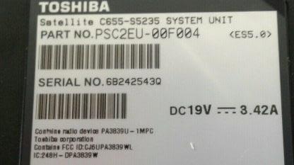 Toshiba Satellite C655 156 Notebook Windows 10 Excellent condition 274482568695 9