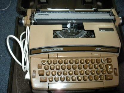 Smith Corona Coronet Super 12 Portable Electric Typewriter w Original Case 264263506353 4