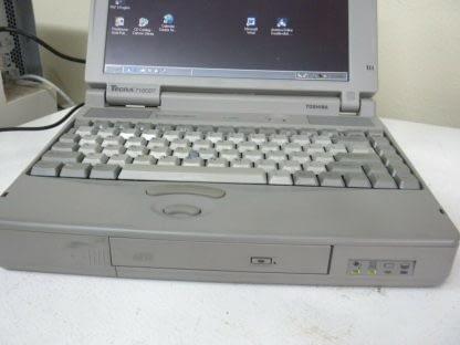 Vintage Toshiba Tecra 710CDT Laptop Rare 1994 Windows 98 Works Good 274156449861 6