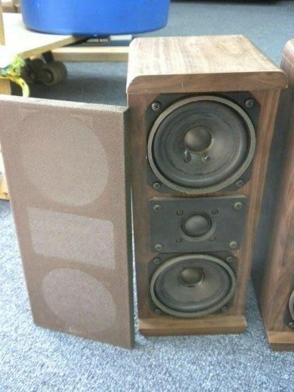 Vintage KOSS Dynamite M80 Plus Wood Bookshelf speakers dual Woofers Sounds Great 264570328625 7