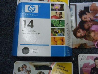 Lot of 4 Genuine HP 14 Black TrI color ink Cartridge CP1160 C5011D Sealed NEW 274265552825 4