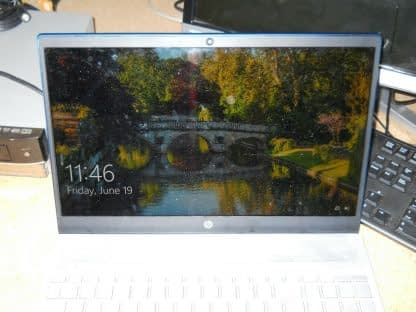 HP Pavilion 15 CS 156 HD display complete assembly BLUE Repaired Works good 274402403929