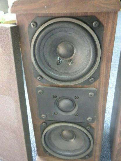 Vintage KOSS Dynamite M80 Plus Wood Bookshelf speakers dual Woofers Sounds Great 264570328625 5