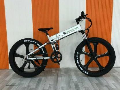 Fat Tire Folding Electric bike Ebike Full Suspension Big Tall Men Sand Snow 264297077395 6