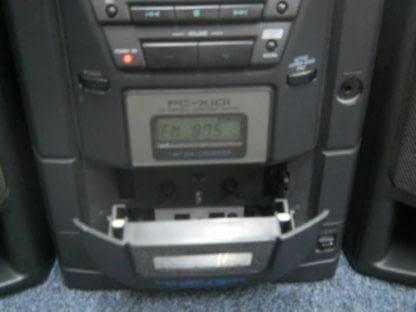 Vintage Boombox Portable CD Player Cassette player Radio JVC X101BK 264580448050 4