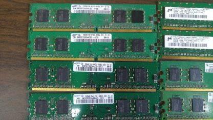 Lot of 8 256MB DDR2 4200 DDR2 3200 Desktop RAM Memory Mixed brands 263959689782 2