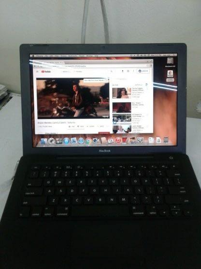 Vintage Apple MacBook 13 A1181 Black Works great 264899590048 10