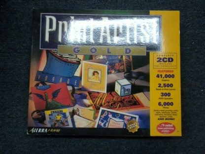 Print Artist Gold Edition PC MAC CD Windows 95 Macintosh New Sealed 264352166562