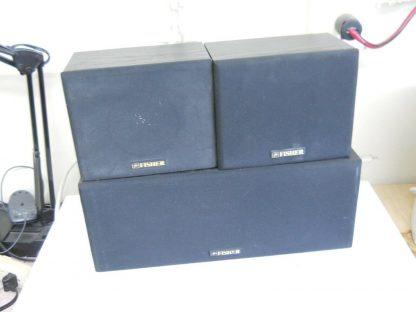 Vintage Fisher Surround sound satellite speakers 3 pcs 274417369509