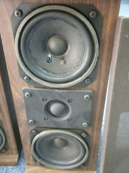 Vintage KOSS Dynamite M80 Plus Wood Bookshelf speakers dual Woofers Sounds Great 264570328625 4