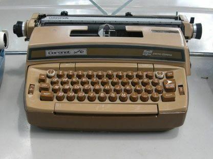 Smith Corona Coronet Super 12 Portable Electric Typewriter w Original Case 264263506353 3