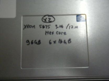 HP BL460c G6 Blade Server Dual Xeon 5670 293 6 Core CPU 192GB RAM No HD 274223911587 2