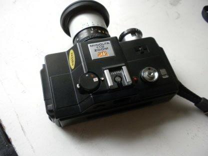 Vintage Minolta110 ZOOM SLR CAMERA With Case 273944048830 3
