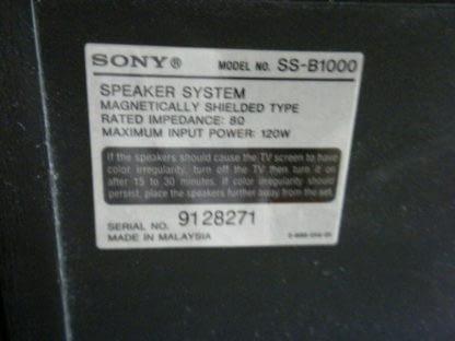 Vintage Sony 5 disc CD changer Amplifier Speaker Set Works Perfect Looks Great 264594046341 4