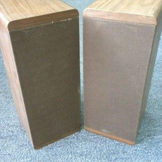 Vintage KOSS Dynamite M80 Plus Wood Bookshelf speakers dual Woofers Sounds Great 264570328625