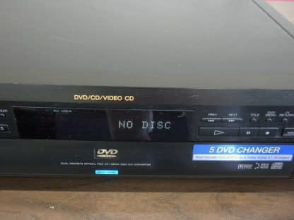 SONY DVP C600D 5 Disc DVDCDVCD PlayerChanger Works Great 264580448051 3
