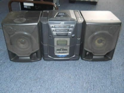 Vintage Boombox Portable CD Player Cassette player Radio JVC X101BK 264580448050