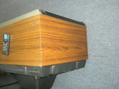 Vintage Mitsubishi TV CS 1945R Television Woodgrain 1987 Excellent CRT TV 264285108799 9