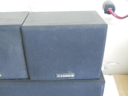 Vintage Fisher Surround sound satellite speakers 3 pcs 274417369509 10
