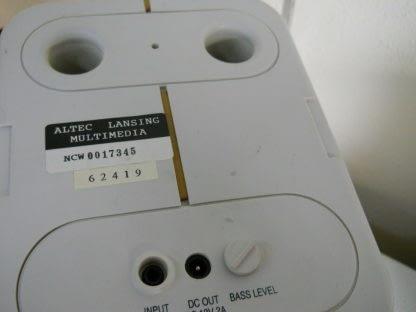 Classic Vintage ALTEC LANSING MULTIMEDIA PC Subwoofer Speakers Complete 274369652660 5