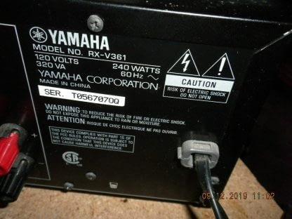 Yamaha RX V361 51 Channel 100 Watt Receiver Works GREAT 264580448048 5
