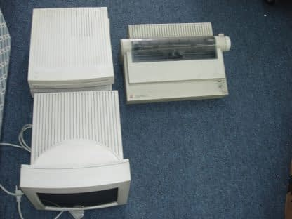 2 Apple Macintosh LC II Perfoma Computer Imagewriter Printer 12 RGB Monitor 264594046340