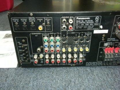 Panasonic SA HE100 350W Multi Input MOS FET Audio Video Home Theater Receiver 264277759756 6