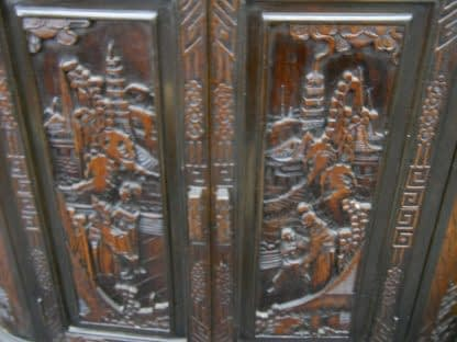 Vintage Wood Chinese hand carved Bar Coffee table stacked Table set Local pickup 264583501882 9