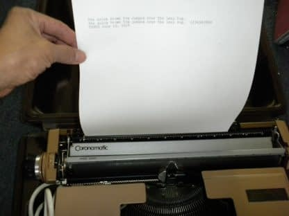 Smith Corona Coronet Super 12 Portable Electric Typewriter w Original Case 264263506353