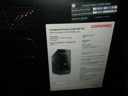 Compaq Presario CQ5727F Desktop PC Win 10 Pro Runs Good 264615410601 9