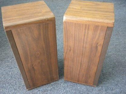 Vintage KOSS Dynamite M80 Plus Wood Bookshelf speakers dual Woofers Sounds Great 264570328625 9