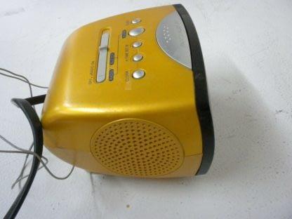 SONY Dream Machine ICF C111 Alarm Clock Nice condition Yellow 264541113739 5