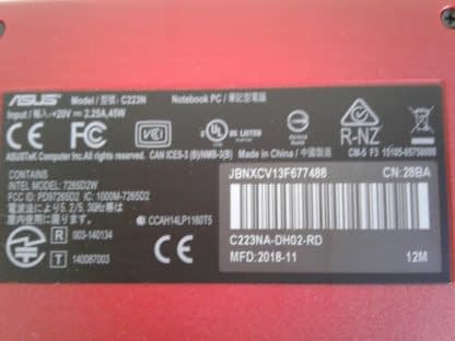 Asus C223N Chromebook Red Good condition 264849749789 6
