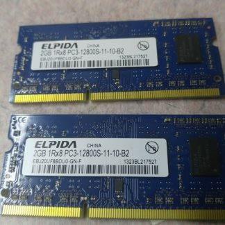 Elpida Pair 2GBx2 4GB total PC3 12800S SODIMM 204pin Works 264304665658