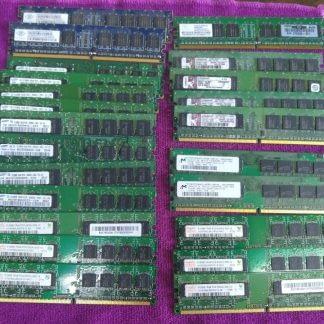 Lot of 23 Mixed brands 512MB PC2 3200 PC2 4200 PC2 5300 desktop RAM Memory 264304665653