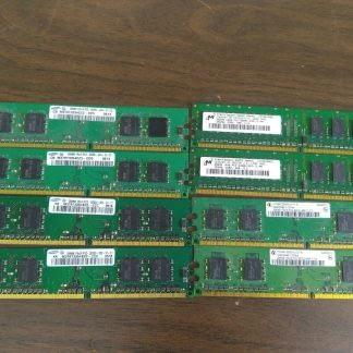 Lot of 8 256MB DDR2 4200 DDR2 3200 Desktop RAM Memory Mixed brands 263959689782