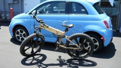 Fat Tire Folding Electric bike Ebike Full Suspension Big Tall Men Sand Snow 264297077395 3