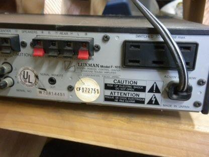 Vintage Luxman F 105 Stereo Surround Amplifier All original works great 274223911583 9
