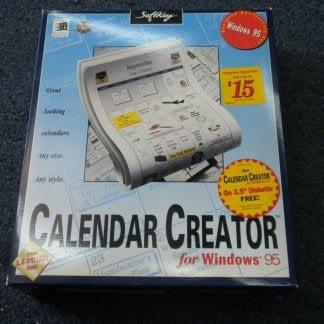 Calendar Creator for windows 95 CD ROM Floppy disk NEW 264350806545