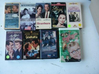 lot of 9 VHS Casablanca Father of bride Heartburn An Affair to remember Gigi etc 264517366710