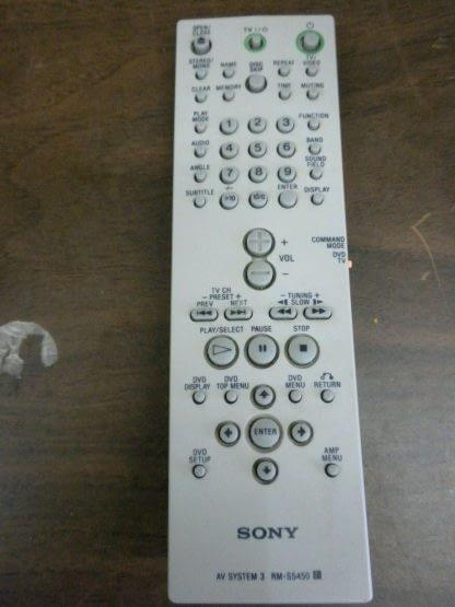Sony AV System 3 RM SS450 Remote Control 264277780289 3