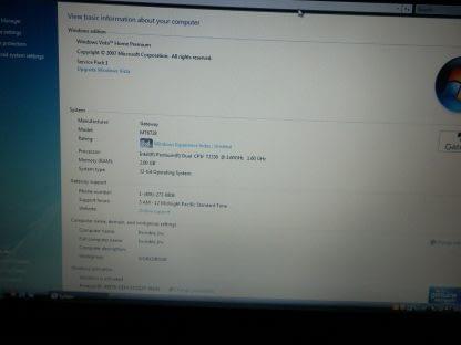 Vintage Gateway MT6728 154 Notebook Laptop Win Vista All Original Runs Great 274223911596 2