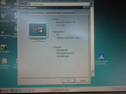 Vintage Toshiba Tecra 710CDT Laptop Rare 1994 Windows 98 Works Good 274156449861 4