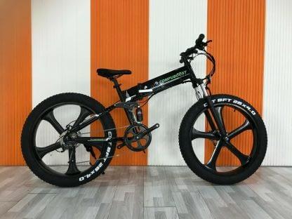 Fat Tire Folding Electric bike Ebike Full Suspension Big Tall Men Sand Snow 264297077395 7