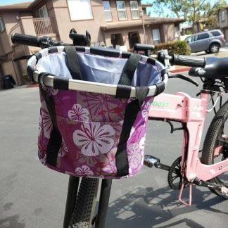Bicycle Front Basket Removable Waterproof Bike Handlebar Basket Pet Carrier Fast 264768291585
