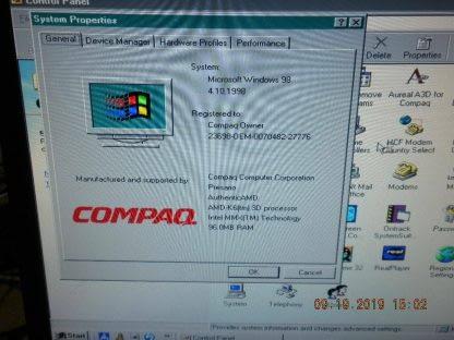Vintage Compaq Presario 5151 MT AMD 350MHz 96MB RAM CDROM ZIP Drive Win 98 274223911594 3