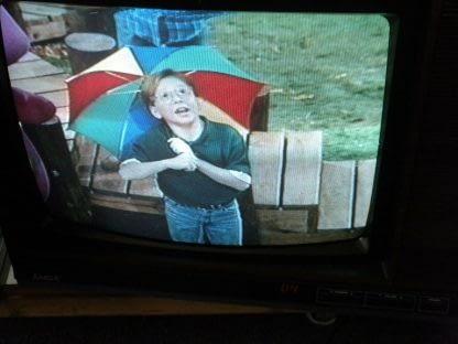 Vintage Mitsubishi TV CS 1945R Television Woodgrain 1987 Excellent CRT TV 264285108799 3
