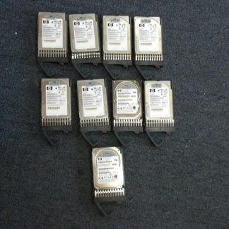Lot 9 pcs HP 72GB 10K SAS 25 Hard Drive with Tray 375696 002 395924 002 264263506343