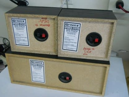 Vintage Fisher Surround sound satellite speakers 3 pcs 274417369509 2